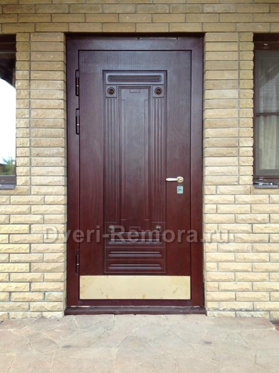 стальная уличные дверь без отделки