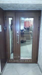 Металлическая дверь с зеркалом
