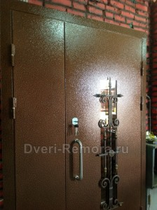 Двери с отделкой порошковое напыление
